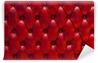 Vinylová Fototapeta Pozadí textury kůže prošívaný červená