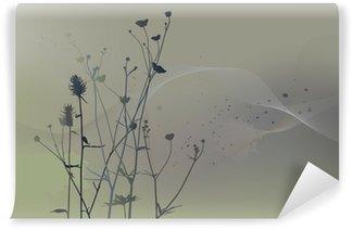 Fototapeta Winylowa Prawdziwe sylwetka trawa, łąka w okresie letnim
