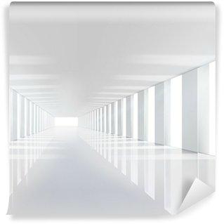 Vinylová Fototapeta Prázdný bílý sál. Vektorové ilustrace.