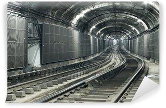 Vinylová Fototapeta Prázdný tunelu metra