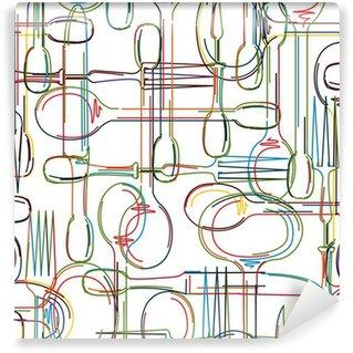 Vinylová Fototapeta Příbory vzor