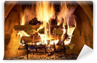 Vinylová Fototapeta Přihlásit oheň