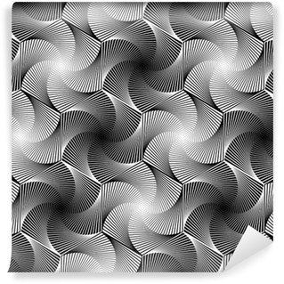 Fototapeta Winylowa Projekt bez szwu monochromatyczny geometryczny wzór sześciokąt