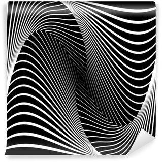 Fototapeta Winylowa Projekt iluzję ruchu monochromatyczne tło wir