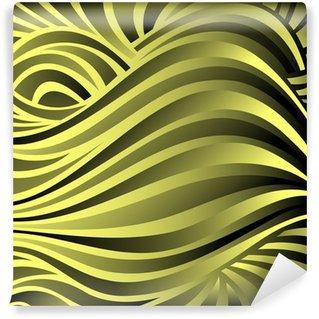 Vinylová Fototapeta Pruhované abstraktní pozadí v černé a žluté barvy
