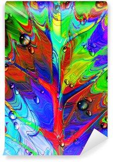 Vinylová Fototapeta Psychedelic Abstract list-a-Psychedelic Leaf a kapky Two