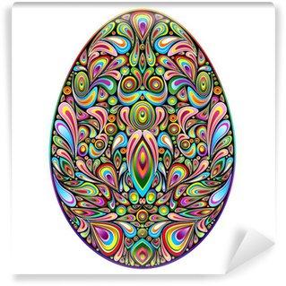 Vinylová Fototapeta Psychedelic Art Design Velikonoční vajíčko Velikonoční vajíčko Ornamental