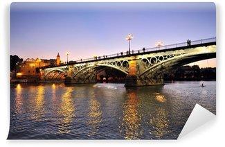Vinylová Fototapeta Puente de Triana al atardecer, Sevilla, España
