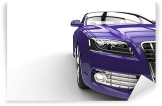 Vinylová Fototapeta Purple Car Front