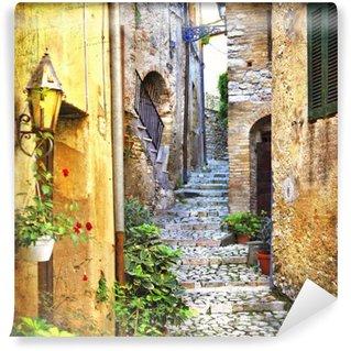 Vinylová Fototapeta Půvabné staré ulice Středomoří