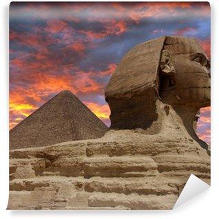 Vinylová Fototapeta Pyramidy a sfinga v Gíze, Káhira