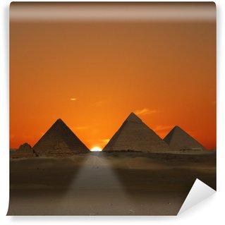 Vinylová Fototapeta Pyramidy Sunrise (Giza, Egypt)