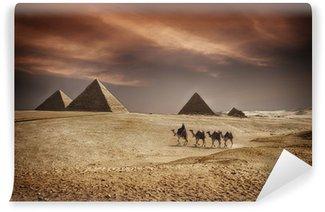 Vinylová Fototapeta Pyramidy v Egyptě