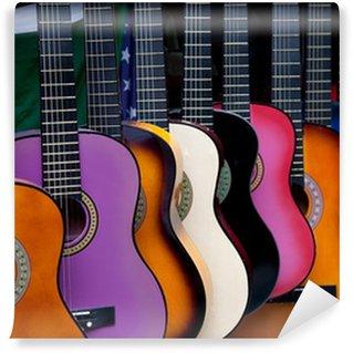 Vinylová Fototapeta Řada multi-barevné mexické kytary