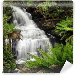 Vinylová Fototapeta Rainforest Waterfall