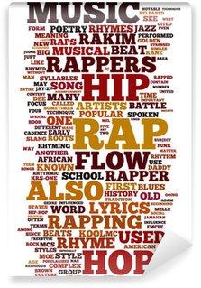 Vinylová Fototapeta Rap a Hip Hop Music