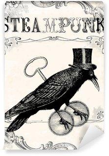 Vinylová Fototapeta Raven steampunk