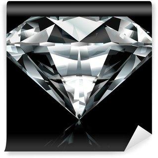 Vinylová Fototapeta Realistické diamant ilustrace na černém pozadí