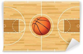 Vinylová Fototapeta Realistické Vector Basketball Court and Ball