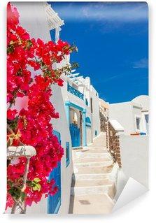 Vinylová Fototapeta Řecko ostrov Santorini v Kyklady, tradiční pamětihodnosti barvy