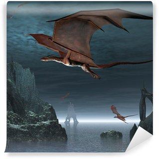 Vinylová Fototapeta Red Dragon ostrovy