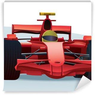 Vinylová Fototapeta Red F1 závodní auto