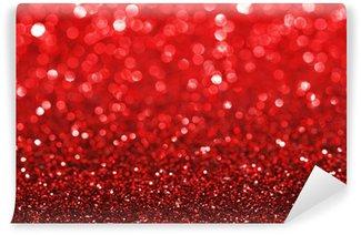 Vinylová Fototapeta Red glitter pozadí