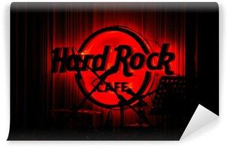 Vinylová Fototapeta Red Glowing Hard Rock Cafe koncert