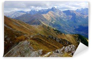 Vinylová Fototapeta Red Mountain Peaks, Tatry hory v Polsku