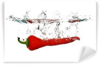 Vinylová Fototapeta Red Pepper stříkající
