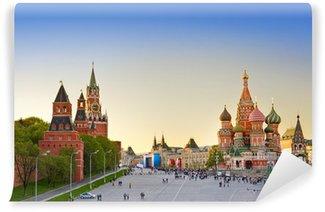 Vinylová Fototapeta Red square, Moscow při západu slunce