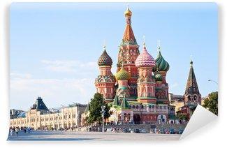 Vinylová Fototapeta Red Square s původem Vasilevsky v Moskvě
