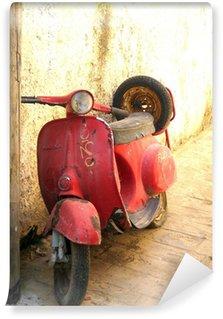Vinylová Fototapeta Red vespa proti zdi
