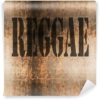 Vinylová Fototapeta Reggae slovo Hudba abstraktní grunge pozadí