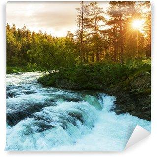 Vinylová Fototapeta Řeka v Norsku
