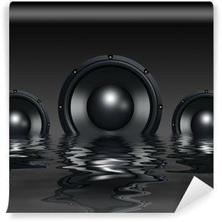 Vinylová Fototapeta Reproduktory ve vodě