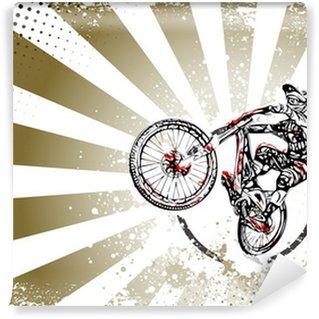 Vinylová Fototapeta Retro bmx freestyle plakát pozadí