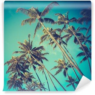 Vinylová Fototapeta Retro Diagonal Palmy na Havaji