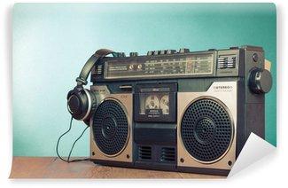 Vinylová Fototapeta Retro ghetto blaster kazetový magnetofon přední mátově zelená