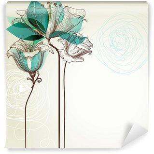 Vinylová Fototapeta Retro květinové pozadí