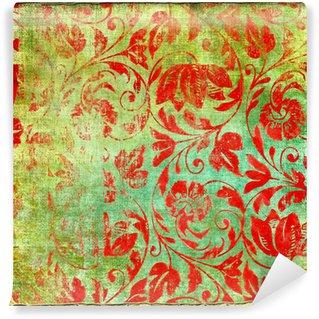 Fototapeta Winylowa Retro kwiatowe wzory
