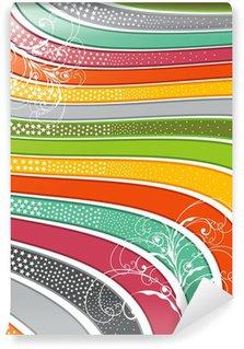 Vinylová Fototapeta Retro lesklý rainbow vlnovky s lokýnky