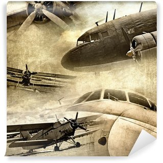 Fototapeta Winylowa Retro lotnictwa, grunge