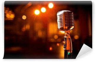 Vinylová Fototapeta Retro mikrofon na jevišti
