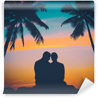 Vinylová Fototapeta Retro Romantický Hawaii Pár