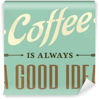 Fototapeta Vinylowa Retro Style Coffee Poster