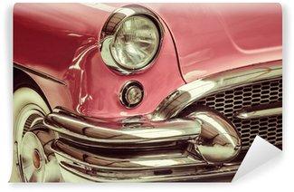 Fototapeta Winylowa Retro stylem obraz z przodu klasyczny samochód