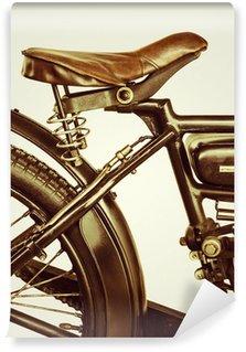 Vinylová Fototapeta Retro stylizovaný obraz motocyklu na retro pozadí