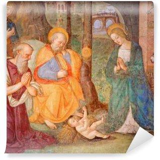Vinylová Fototapeta Řím - Freska Narození s svatého Jeronýma Bernardino Pinturicchia (1488 - 1490) v Rovere kapli v kostele Basilica di Santa Maria del Popolo.