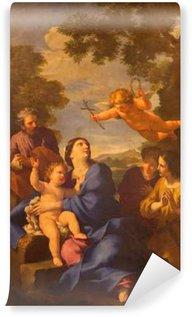 Vinylová Fototapeta Řím, Itálie - 10.03.2016: malba The Reposo Svaté rodiny v Egyptě v kostele Chiesa di San Carlino alle Quatro Fontane Giovan Francesco Romanelli 17. stol.